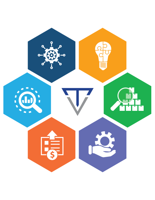 Transcendent supply chain module icons