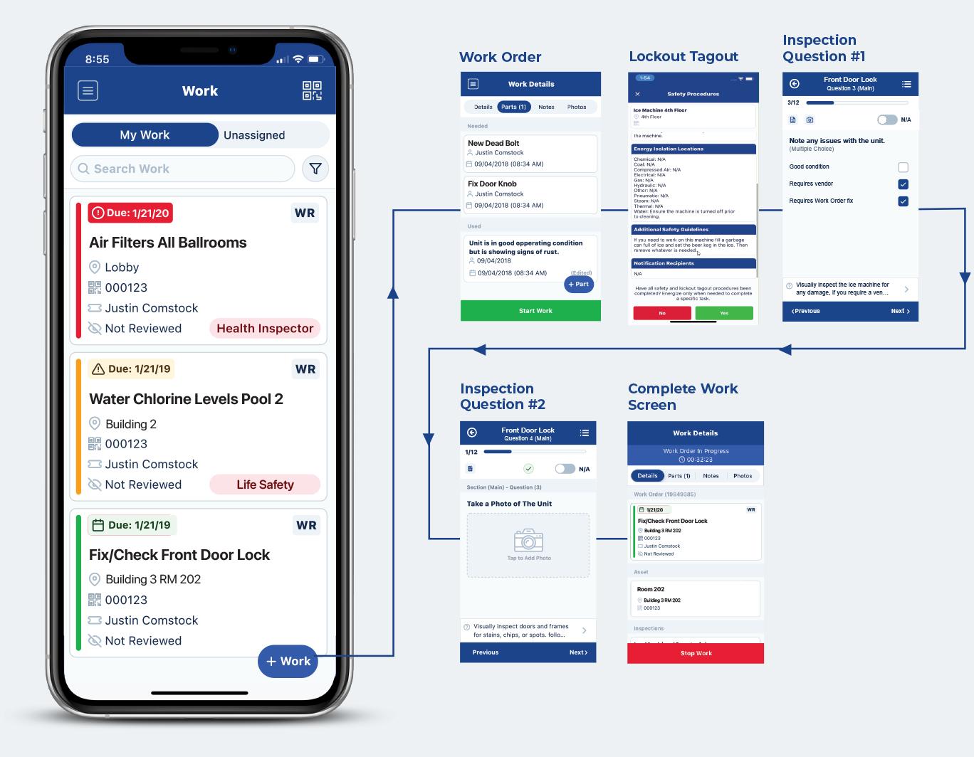 Transcendent Maintenance Mobile App - Work Order Inspection Workflow