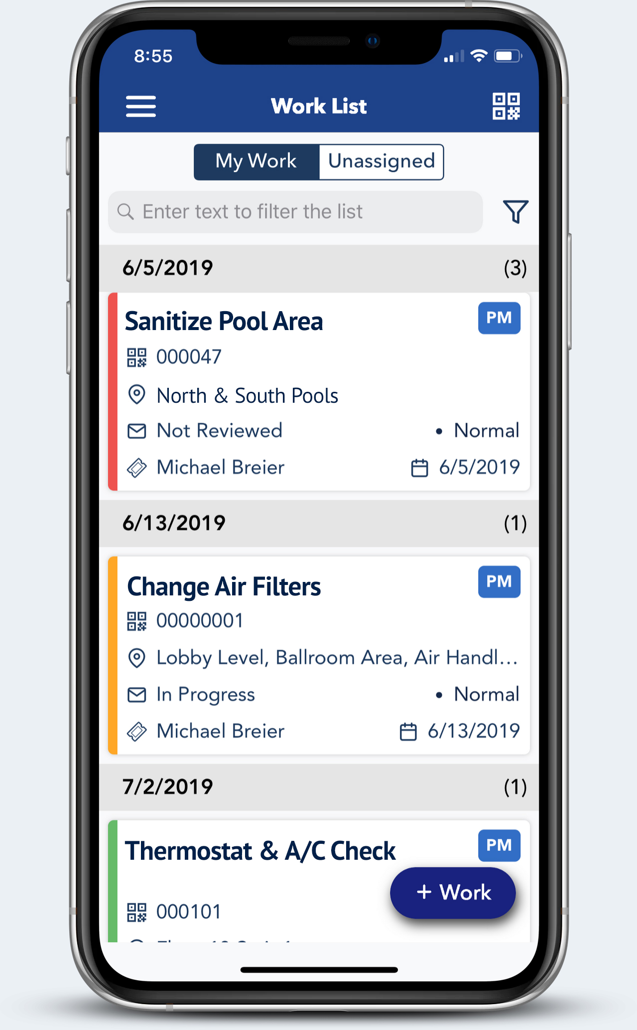 Transcendent Maintenance Mobile App for Facility Management